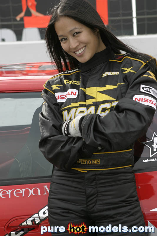 Female Asian Race Car Driver